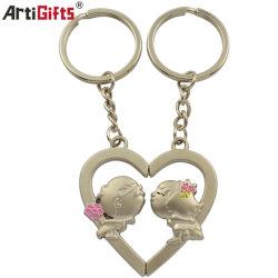 Venta caliente moda Heart-Shaped Llavero par Kiss Llavero con forma de herradura