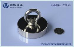 磁石を採取するアイボルトが付いているD75 NdFeBの鍋の磁石