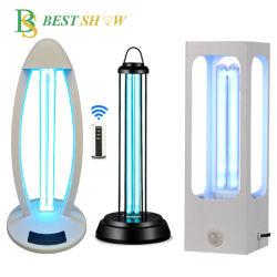 Luce UV di sterilizzazione di disinfezione del Ce 38W 55W di sterilizzazione 220nm della Tabella dell'ozono della lampada UV-C germicida ultravioletta portatile della lampada per la casa