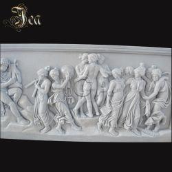 Belle maison mur décoratif statues en marbre d'allégement de sculpture