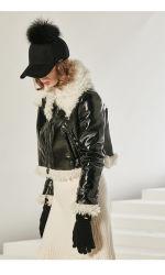 Lã personalizado Boné Hat, Mulheres de peles de Raccoon Design de Moda Hat 6 Painéis Sport Caps