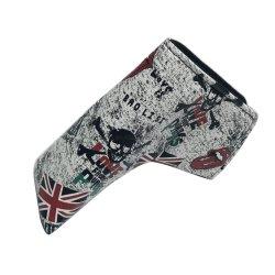 Hoja de alta calidad de la bandera del Reino Unido el palo de golf putter Headcover cubierta de cuero sintético cierre magnético para Blade Putter