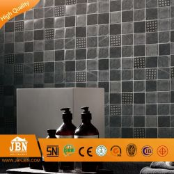 Europäisches Design überdiertes Glas und schwarzes Stein Marmor Gebäude Mosaikfliesen (M815002)