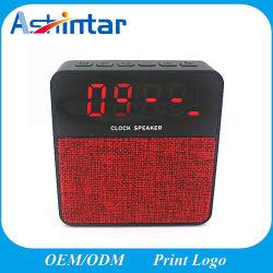 Ткань беспроводной динамик мини-будильник с отображением времени гарнитуры Bluetooth