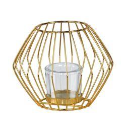 L'or de luxe/Black Metal chandelier avec des chandeliers en verre pour mariage et de décoration maison