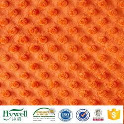 Filo di ordito Oktex-100 che lavora a maglia il tessuto impresso bolla di 3mm Velboa per il bambino
