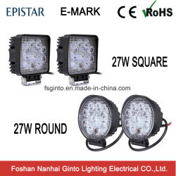 Горячий продавец 27W раунда/кв. 4дюймовый светодиодный индикатор рабочего освещения для автомобиля 4X4 Offroad погрузчика