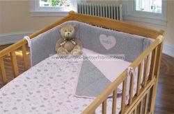 Groothandel Cotton Jersey Baby Crib Beddenset 3PCS Crib Bumper Plaats het montageblad voor de Duvet-afdekplaat