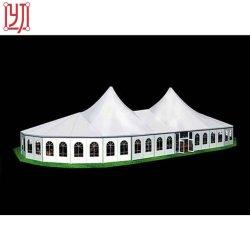 De beste Decoratie van de Markttent van de Tent van de Ontvangst van het Huwelijk van het Aluminium van 12X25 M met Franse Vensters