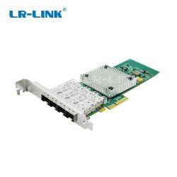 Processeur Intel i350 PCIE x4 4X 1000Mbits/s 4 port SFP Quad Carte adaptateur serveur Lrec9714HF-4SFP