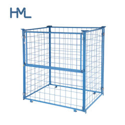 Dobrável e colapsáveis Armazenamento Empilháveis Aço Metal Wire Mesh Cage palete