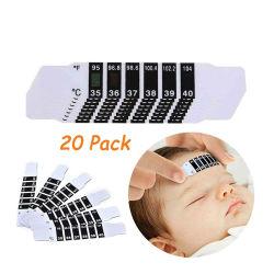 안전한 유아 아기 온도 이마 온도 시험 스티커