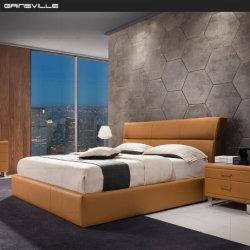 2020 جديدة تجويع غرفة نوم أثاث لازم جلد سرير [غك1717]