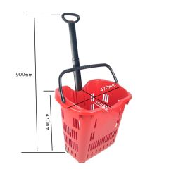 Fabricante Venta caliente laminado de plástico PP Ecológica Carrito de Compras Carrito con ruedas para el supermercado