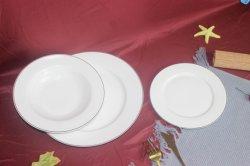 На заводе роскошь керамический фарфор белый ужин пластических масс золота за круглым столом Rim