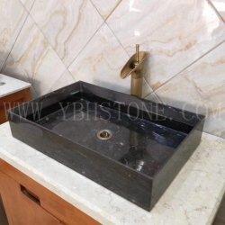 Blue Pedra Calcária de banho da bacia de lavar loiça