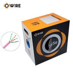 4p câble cuivre torsadée UTP Cat5e pour l'intérieur