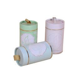 リボンが付いているカスタム印刷の小さいティーバッグの袋の磨き粉甘いキャンデーの円形の包装の紙箱