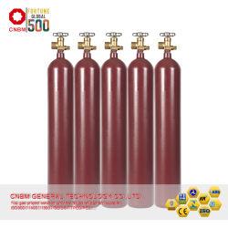 중국 본래 ISO9809-3 Std 40L 가스통은 산소 아르곤 가스통 질소 가스 콘테이너로 채웠다