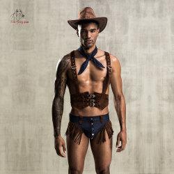 لعب دور مخصصة للرجال Lingerie الجنس Cosplay رعاة البقر الملابس الداخلية من أجل نادي ليلي كوزبلاي