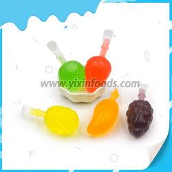 Forma de frutos doces de gelatina grande sabor a fruta POP de gelo