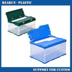 Регулируемая пластиковая коробка для хранения, Складная коробка для хранения, жестких пластмассовых складных коробка для хранения
