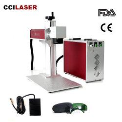 des 20/30/50/60/100W Raycus Metallfaser-Laser-Markierungs-Maschine maximale Jpt 3D CO2 Mopa Firmenzeichen-Drucker-Markierungs-bewegliche mini optische Laserengraver-YAG für Peilung-Cup gedruckte Schaltkarte