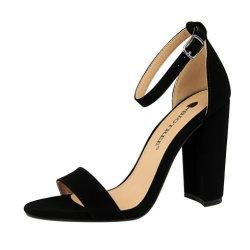Venda de sapatos de mulheres verão quente saltos altos Fashion Espessura Calcanhar de alta calcanhar Sexy Discoteca Palavra Precinta Sandals Fa0509-1