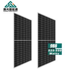 Высокая эффективность 430W 440W 450 Вт, 510 Вт, 520 Вт 525W530W 540W 545W 550W Моно Perc Half-Cut Солнечная панель