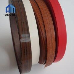 Fascia di bordo del PVC degli accessori di Furniutre, nastro di PVC, grano di legno e colore solido