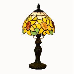 Lampada da tavolo retro da tavolo con lampada da tavolo in vetro colorato da 8 pollici Lampada Tiffany