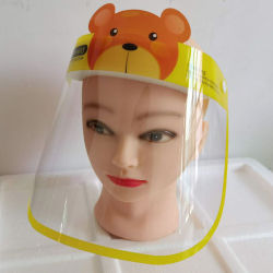 Nuevo producto reutilizable anti niebla visión clara de visera protector facial para adultos y niños
