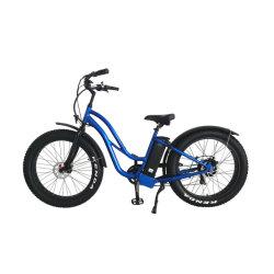 إطار من الألومنيوم الإطار السمين محرك محور خلفي بقوة 48 فولت 500 واط دراجة كهربائية على الجبال للنساء