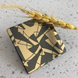 فن الحك 0.6مم تحلية 304 ورقة طلاء الألوان PVD من دون للصدأ صفائح فولاذية