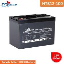 Csbattery 12V 100Ah batería de gel de alta temperatura para Solar-Panel/Bomba/Golf-Cart/Power-Tool/Submersible-Motors/CSR