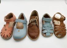 بنات فصل صيف ليّنة جدي أحذية بنات جلد بقر جلد خفاف قريبة إصبع قدم خفاف أحذية إلى حدّ ما انبطاحا