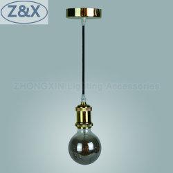 E27 illuminazione pendente in plastica moderna in alluminio per soffitto