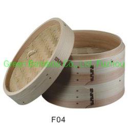 Klassischer traditioneller Entwurf und gesunder kochender Bambusdampfer