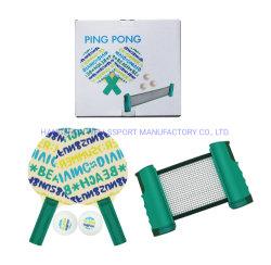 Novo Design Imprimir tabela de borracha raquete de tênis pingue-pongue com qualquer portátil Ténis de Mesa Net