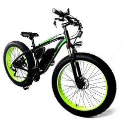 Bicicletta elettrica della spiaggia della neve della batteria di litio del fornitore 1000W di sorgente ciclomotore elettrico astuto dell'alluminio della bici di montagna da 26 pollici
