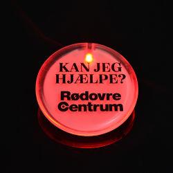 Linli中国の卸し売りブランドの昇進の円形のプラスチックは点滅LED Pinのバッジボタンをつける