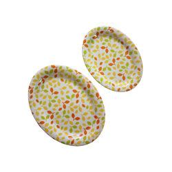 La melamina, de forma ovalada que sirve de gran tamaño de la placa placa oval