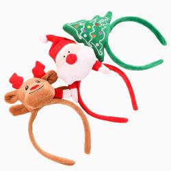 عيد ميلاد المسيح رجل ثلج رنة [سنتا] قطيفة لعبة رأس إطار