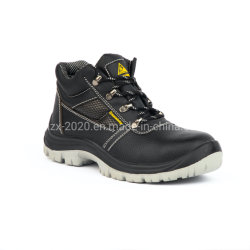 スチール製トーキャップおよびスチール付きの本革製安全靴 プレートデュアル密度 PU ソール高品質および CE 認証取得済み