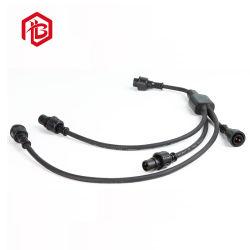 Elektrischer und Draht-Verbinder2 Pin-Mann und weibliches wasserdichtes y-Verbinder-Kabel