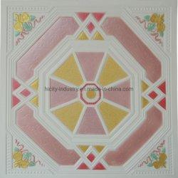 En el techo de yeso colorido Pop pintado el techo Techo de diseño de flores