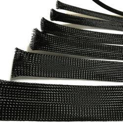 خرطوم مجدول قابل للتوسيع لحماية لون جلبة الكابل السلكية قماش ألياف PA للحيوانات الأليفة