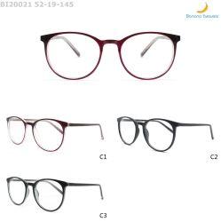 Telai dell'ottica di retro dell'iniezione promozione chiara Anti-Blu alla moda rotonda di Eyewear