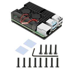liga de alumínio a Shell Raspberry Pi 4 B Dissipador de calor caso