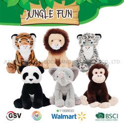 Los animales salvajes León Tigre Leopard Elefante Panda de juguete de peluche de mono